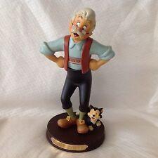 """RARE Disney Pinocchio GEPPETTO & FIGARO 8"""" Medium Figurine"""