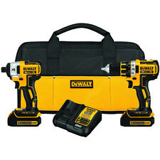 DEWALT 20V MAX 1.5 Ah Li-Ion BL Drill and Impact Driver Combo Kit DCK281C2 new