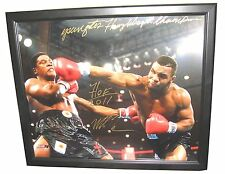 IRON MIKE TYSON HAND SIGNED 20X14 PHOTO WITH INSCRIPTIONS FRAMED