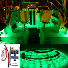 Wireless Green LED Strip Kit For Boat Marine Deck Interior Lighting 16 ft