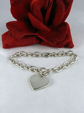 Sterling Silver TI Heart Charm 19g Bracelet FERAL  CAT RESCUE