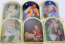 "MRT 6 Lot Holy Family Nativity Angel Christmas Tree Decor Ornament Gift Set 2.5"""