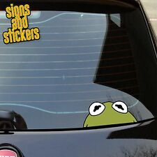 1x Kermit the frog Sticker Peeper Window Bumper Decal JDM Euro DUB JDM bomb vag