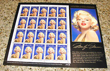 1995 MARILYN MONROE 32 Cent 20 Stamps Legends of Hollywood Unused