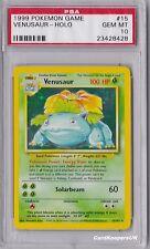Venusaur 15/102 Holo Shiny - Base 1 Set Pokemon Card - PSA 10 GEM MINT