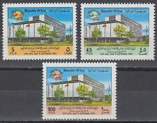 Irak Iraq 1982 ** Mi.1173/75 Tag der Post UPU Day Gebäude Buildings