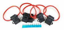 (5/Pack) 8 Gauge In-line ATC Fuse Holder + 15A AMP Fuse w/Cover New Car Install