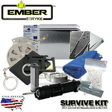 Survival Fire Starting Kit Ember stryke Magnesium Waterproof Matches Tinder SOS