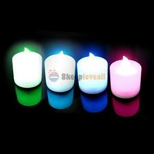 LED Electronic 7 Color Change Flameless Lights Candle Lamp Wedding Party Decor
