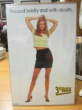 Vintage 3rd rock  proceed boldly Car Garage poster man cave hot girl 1998 175