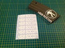 "AR Magazine ""458 SOCOM"" Sticker Pack, 6 Pack, AR 15, AK, GREY!"