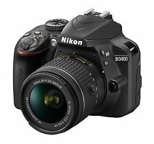 Nikon Black D3400 Digital SLR Camera Body + AF-P 18-55mm VR Lens OPEN BOX DEMO