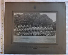 Military WWII 1938 1st Battalion Wiltshire Regiment D Company Photograph (3077)