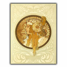 METAL SIGN PLAQUE Alfons Alphonse Mucha VINTAGE SHABBY CHIC FRENCH art print
