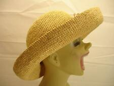 HELEN KAMINSKI natural tan braided raffia woven straw sun beach hat one-size NEW