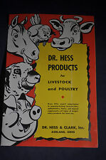 Dr Hess Products for Livestock and Poultry