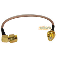 SMA 90º Angled Male to SMA Female with RF Coax Pigtail Adaptor Cable RG316 6inch