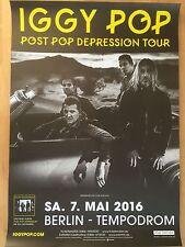 IGGY POP  2016  TOURNEE - orig.Concert Poster - Konzert Plakat  NEU