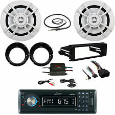 FLHX FLHT Harley Dash Kit, Bluetooth Stereo, Antenna,Amplifier,Speakers/Adapters