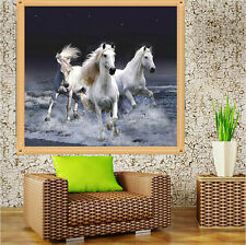 38*35cm DIY 5D Cross Stitch Horse Diamond Embroidery Painting Craft Home Decor
