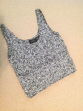 NWOT DANA BUCHMAN TANK TOP SIZE LRG INDIVIDUAL THREADS BLK/ WHT/ WEAVE
