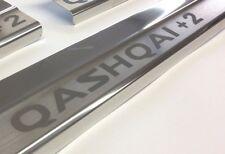 Nissan Qashqai+2 Edelstahl  Einstiegsleisten  mit QASHQAI+2 Logo
