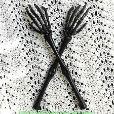 Halloween Gothic SKELETON HAND ARMS TONGS SERVER Kitchen Utensil Tableware-BLACK