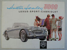 Prospectus AUSTIN-HEALEY 3000 Luxe-sport-Convertible, environ 1962, 8 pages, l'allemand!