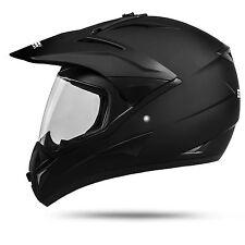 GS War M matt Motocrosshelm mit Visier Motocross Cross Quad Motorrad Enduro Helm