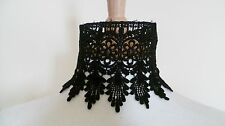 Black Venise Lace Choker Victorian Necklace Medieval Steampunk Gothic Pagan