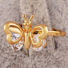 Wedding Gold Plated Eternity Womens Swarovski Crystal Butterfly Lady Rings SZ 6