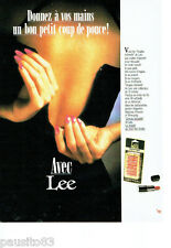PUBLICITE ADVERTISING 046  1988   les ongles adhésifs Lee press-on