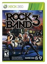 Rock Band 3 (Xbox 360, Music Band Fun 2000 Songs Software Game) Brand NEW