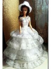 Silver Wedding Evening Party Dress Outfit Gown Clothes for Silkstone Barbie Doll