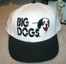 new BIG DOGS logo black white canvas golf ball hat cap one size fits all
