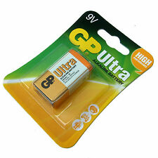 PP3 9V BATTERIA GP ULTRA Alcaline HIGH POWER 6LR61 6LF22 MN 1604 AU scadenza 2020