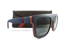 New Gucci Sunglasses GG 1116/S Blue Red Brick M1SBN Authentic