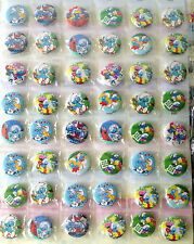 THE SMURFS 3CM 48x PIN BADGES CUTE NEW FOR PARTY CLOTH BAG