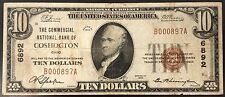1929 Ten Dollars Nat'l Currency, The Commercial National Bank of Coshocton, Oh!