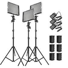 Aputure 2x AL-528C +AL-528S CRI95+ LED Video Light Kit + Stand +NP-F970 Battery