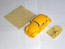 slot 1/32 TEAM SLOT body VOLKSWAGEN BEETLE YELLOW RESIN NEW NO BOX