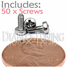 M2 x 5mm - Qty 50 - Stainless Steel Phillips Pan Head Machine Screws DIN 7985 A