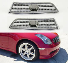 Euro Clear Front Side Bumper Marker Lights For Infiniti G35 2dr Coupe 2003-2007