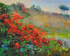 "Bougainvilleas. Original framed oil on canvas 8""x10"" painting from artist"