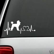 K1040 Poodle Heartbeat© Dog Decal Sticker for Car Truck SUV Van Window or LAPTOP
