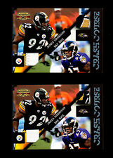2011 Gridiron Gear James Harrison (Dual Swatch Game-Used/25)-Steeler/Ravens Lot