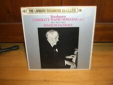 BEETHOVEN PIANO SONATAS VOL.1-BACKHAUS-LONDON/KING JAPAN AUDIOPHILE  MZ 5001 LP