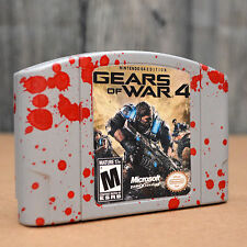 Nintendo 64 custom game Gears of War 4 GOW4 N64 Novelty Display Prank Gag Gift