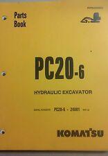KOMATSU PC20-6 HYDRAULIC EXCAVATOR PARTS MANUAL