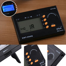 Clip-On Digital Tuner + Metronome + Tone Generator for Acoustic Electric Guitar
